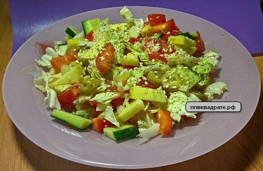Овощной салат на ужин