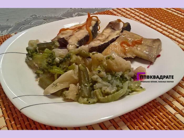 Рыба и овощи - идеальный ужин
