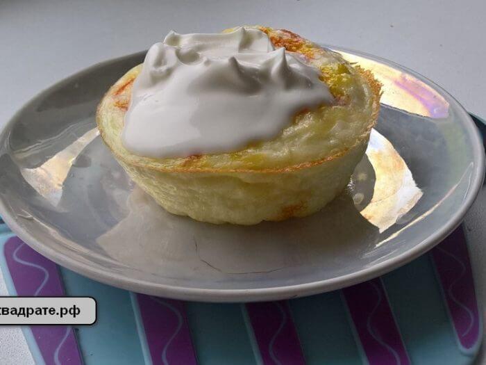 Яичный омлет в духовке